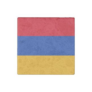 Patriotic Armenia Flag Stone Magnet