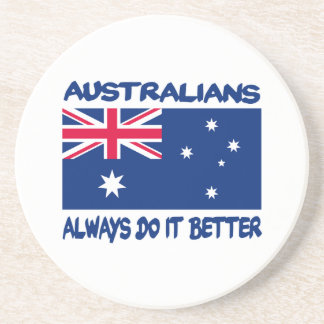 Patriotic Australian designs Sandstone Coaster