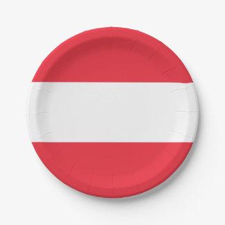 Patriotic Austrian Flag Paper Plate