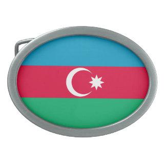 Patriotic Azerbaijan Flag Belt Buckle