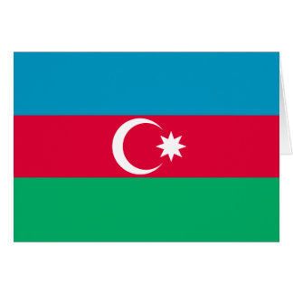 Patriotic Azerbaijan Flag Card