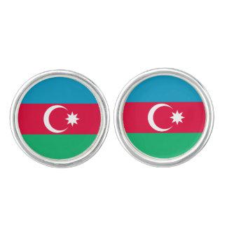 Patriotic Azerbaijan Flag Cufflinks