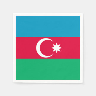 Patriotic Azerbaijan Flag Disposable Napkins