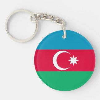 Patriotic Azerbaijan Flag Key Ring