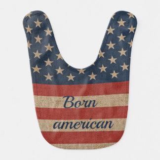 Patriotic Baby Bib with print USA flag