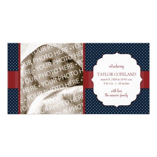 Patriotic Baby Birth Announcement Photo Card