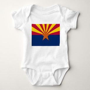 Patriotic baby bodysuit with flag of Arizona, USA