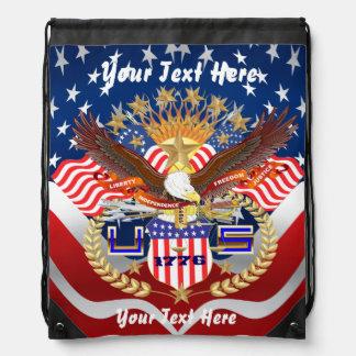 Patriotic Backpack? Beach Bag? Runner? Drawstring Backpacks