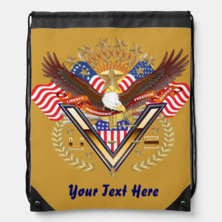 Patriotic Backpack? Beach Bag? Runner? Drawstring Backpack