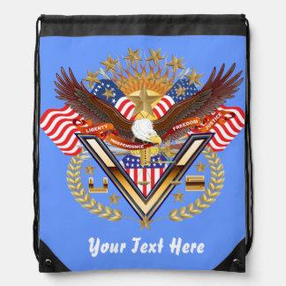 Patriotic Backpack Beach Bag Runner