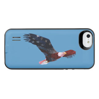 Patriotic Bald Eagle American Flag iPhone SE/5/5s Battery Case