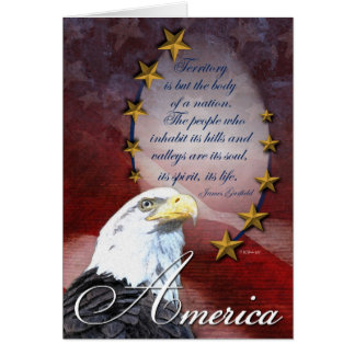 Patriotic Bald Eagle Card