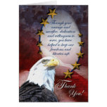 Patriotic Bald Eagle Thank You Card Greeting Cards
