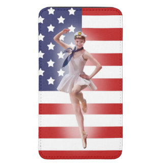 Patriotic Ballerina and USA Flag