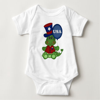 Patriotic balloon dragon baby unisex bodysuit July