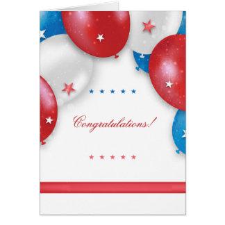 Patriotic Balloons Greeting Card