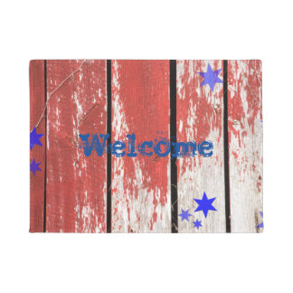 Patriotic barn wood doormat