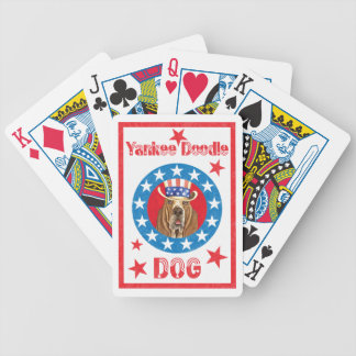Patriotic Basset Bicycle Playing Cards