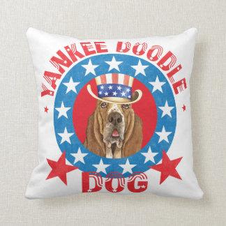 Patriotic Basset Cushion