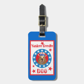 Patriotic Basset Luggage Tag