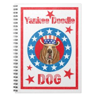 Patriotic Basset Notebook