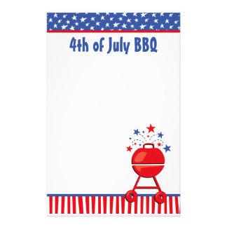 Patriotic BBQ Custom Stationery Design