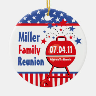 Patriotic BBQ Personalized Ornament
