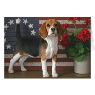 Patriotic Beagle Card