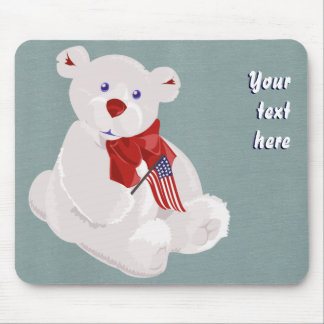 Patriotic Bear Mousepad
