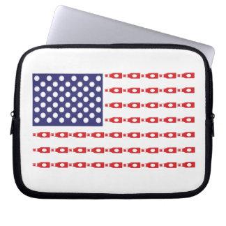 Patriotic Beer Bottle Flag Computer Sleeve