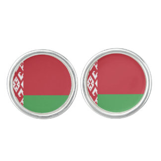 Patriotic Belarusian Flag Cuff Links