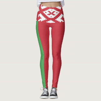 Patriotic Belarusian Flag Leggings