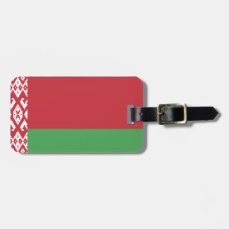Patriotic Belarusian Flag Luggage Tag