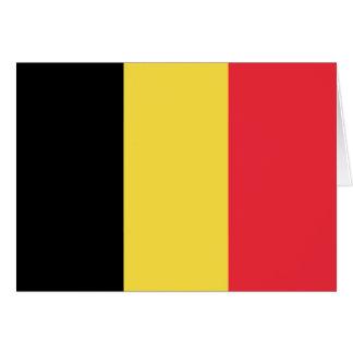 Patriotic Belgian Flag Card