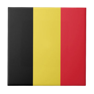Patriotic Belgian Flag Ceramic Tile