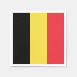 Patriotic Belgian Flag Disposable Napkin