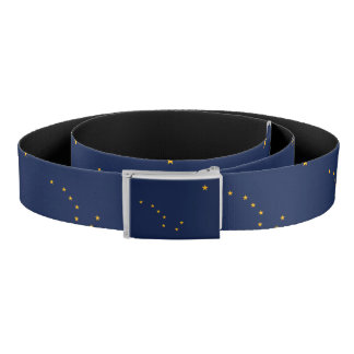 Patriotic Belt with flag of Alaska, U.S.A.