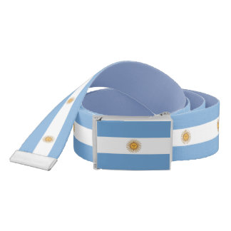 Patriotic Belt with flag of Argentina