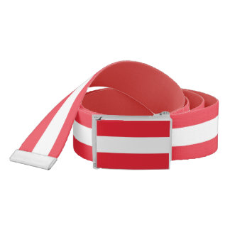 Patriotic Belt with flag of Austria