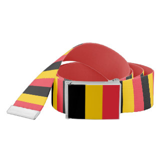 Patriotic Belt with flag of Belgium