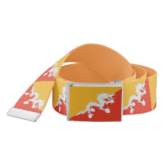 Patriotic Belt with flag of Bhutan