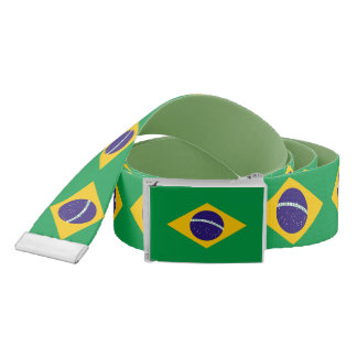 Patriotic Belt with flag of Brazil