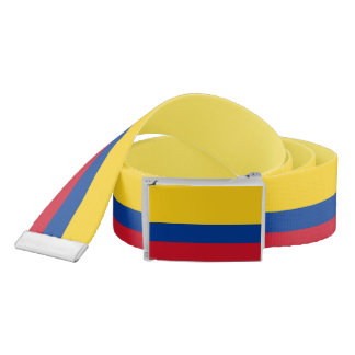 Patriotic Belt with flag of Colombia