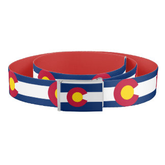 Patriotic Belt with flag of Colorado, U.S.A.