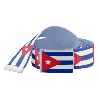 Patriotic Belt with flag of Cuba