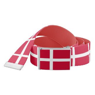 Patriotic Belt with flag of Denmark