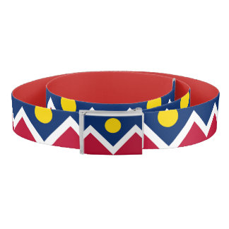Patriotic Belt with flag of Denver City, U.S.A.