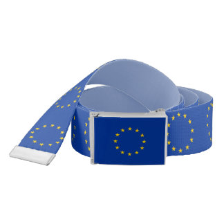 Patriotic Belt with flag of European Union