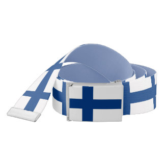 Patriotic Belt with flag of Finland