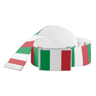 Patriotic Belt with flag of Italy